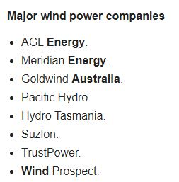 MAJOR WIND POWER COMPANIES IN AUST 2020 001