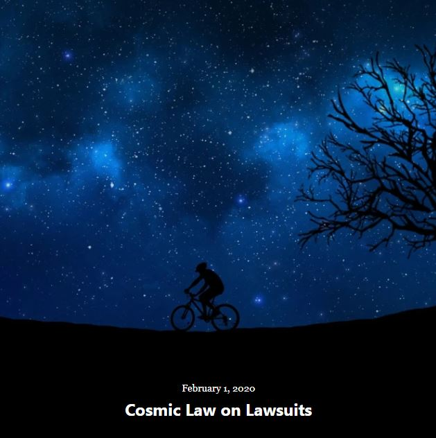 BLOG COSMIC LAW LAWSUITS FEB 1 2020